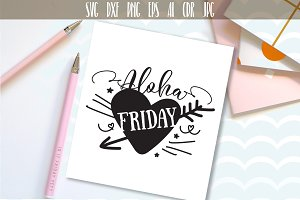 Aloha Friday SVG Hawaii Graphic File