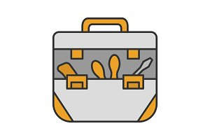 Tool bag color icon