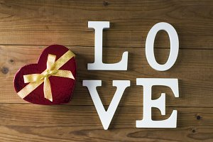 message of love with letters, valentine's day