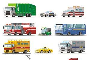 Colorful City Transport Set
