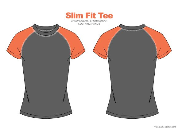 Women Slim Fit Tee Vector Clothing T