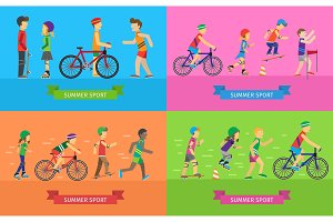 Summer Sport Vector Concepts in Flat Design