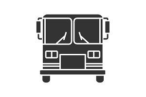 Bus glyph icon