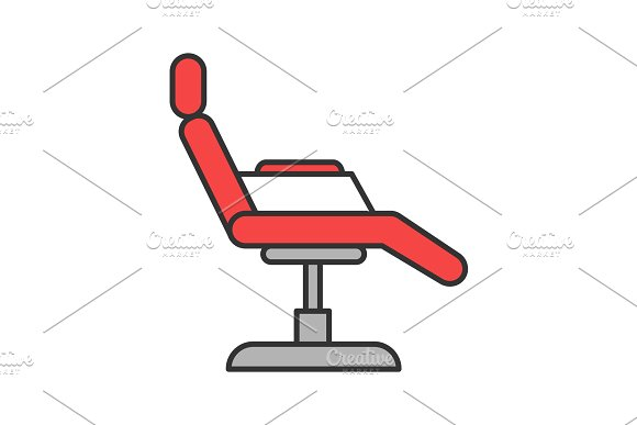 Tattoo chair color icon