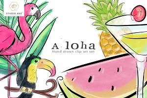 Aloha Summer Art Set