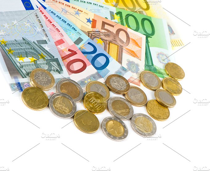 Euro currency. Coins and banknotes - Business