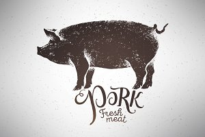 Pigs silhouette illustration