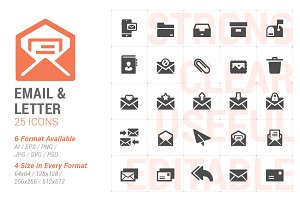 Email & Letter Filled Icon