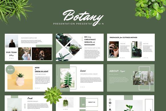 botany powerpoint presentation presentation templates creative