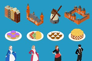 Netherlands tourist icons