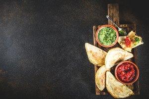 Latin American food, empanadas
