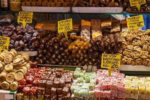 sweets at the bazaar in Istanbul