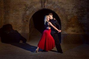 Dance of tango.