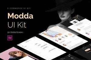 Modda - E-Commerce Mobile UI - Xd