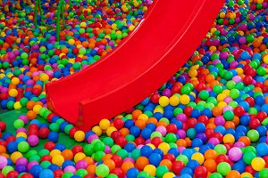 Pool with bright balls background.