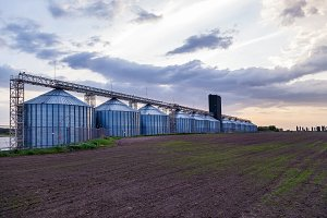 metal containers for grain storage