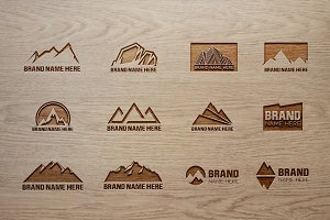 Mountain Logo Bundle & Mock-Up