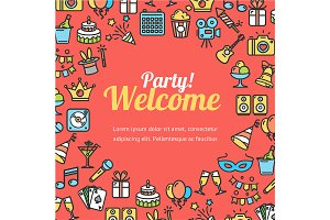 Welcome Party Invitation Card.