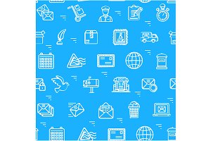 Postal Pattern Background. Vector