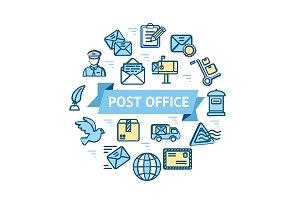 Postal Signs Round Design