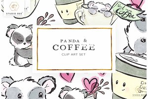 Panda & Coffee Art Set