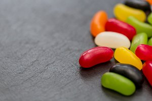 Candy sweets dark background