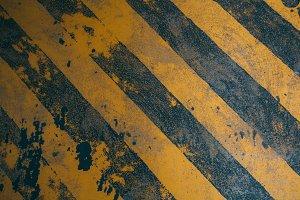 Yellow stripes warning sign