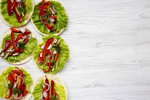 Top view corn tortillas with redish