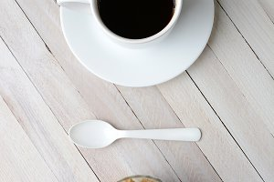 Coffee Natural Sugar Cubes Spoon