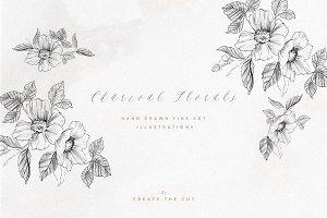 Charcoal Florals