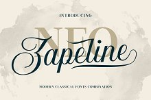 Neo Zapeline | 3 fonts Combination by  in Display Fonts