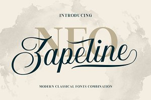 Neo Zapeline | 3 fonts Combination