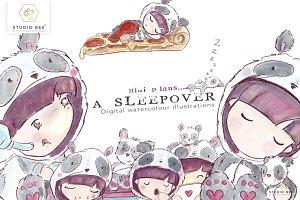 Mimi plans...a sleepover (panda)