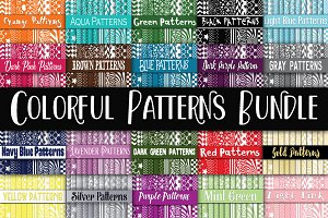 Colorful Patterns Digital Paper