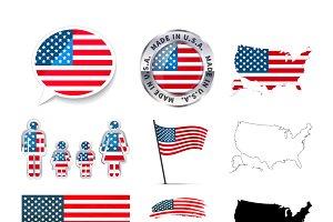 Set of USA infographics elements