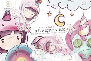 Mimi plans...a sleepover (unicorn)