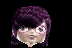 Cute Cartoon Girl. 60 images.