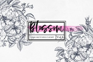 """""""Blossom.Vol.1"""" - graphic botanica."""