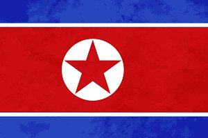 True proportions North Korea flag