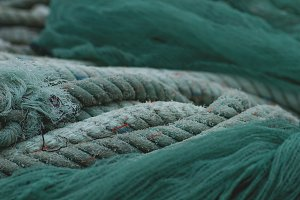 Fishing nets and ropes