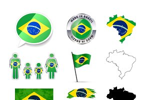 Set of Brazil infographics elements