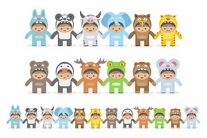 Animals costumes kids