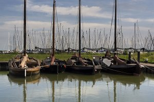 Historic sailing boats in Enkhuizen