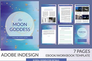 Moon Goddess InDesign Ebook Template