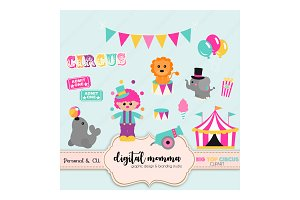 Big Top Circus Clipart Set