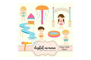 Water Park, Kids Clipart Set