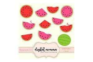 Watermelon Clipart Set