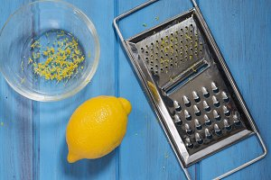 Lemon and grater