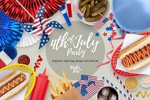 4th of July Styling Props