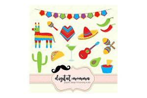 Fiesta, Cinco De Mayo, Clipart Set